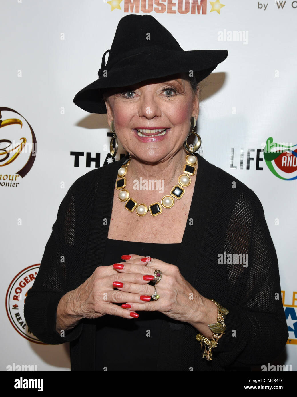 Hollywood, USA. 04th Mar, 2018. Dawn Wells attends The 3rd Annual Roger Neal Style Hollywood Oscar Viewing Black - Stock Image