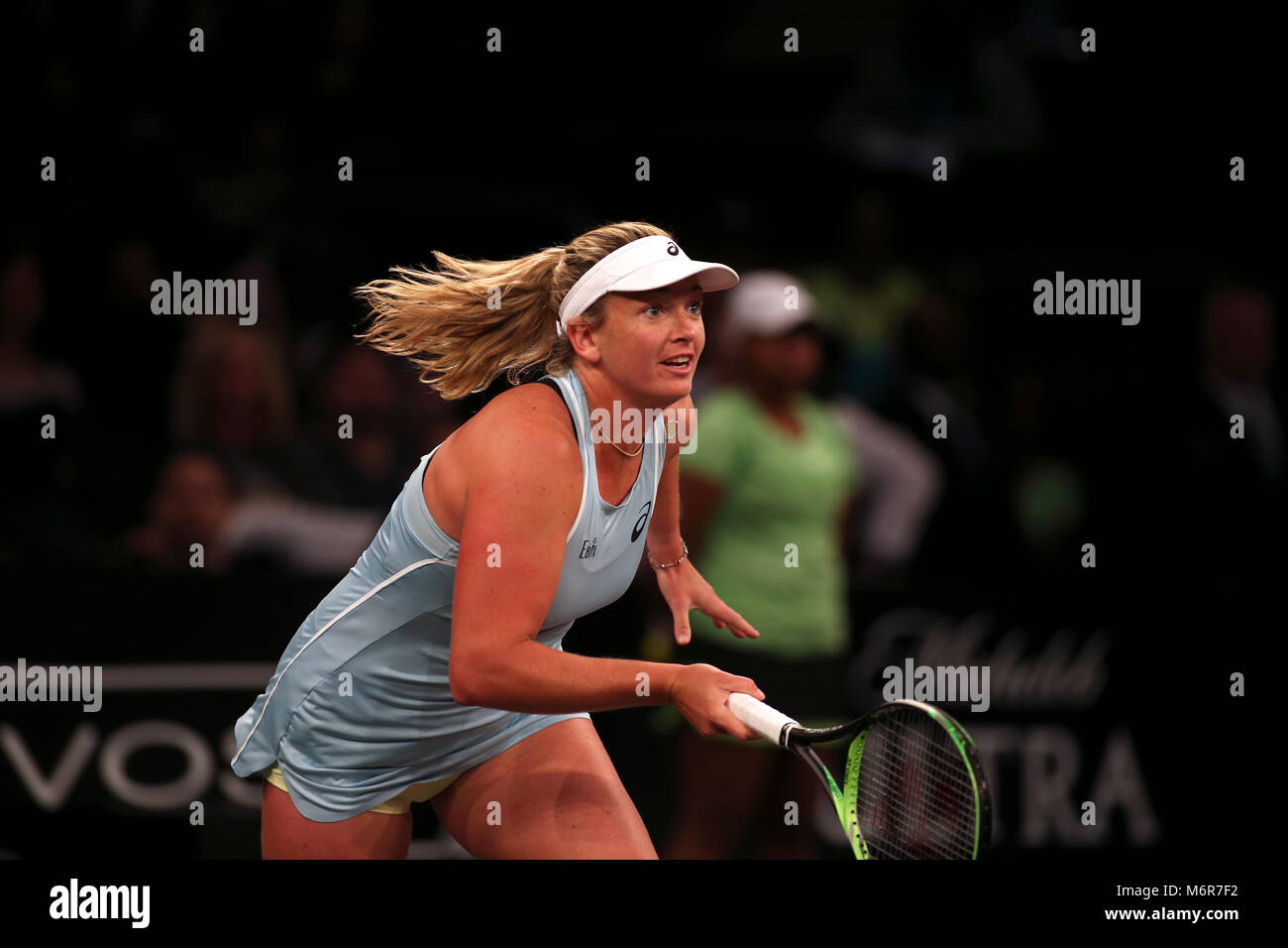 New York, USA. 5th March, 2018. CoCo Vandeweghe of the United States in action during the Tie Break Tens tennis - Stock Image
