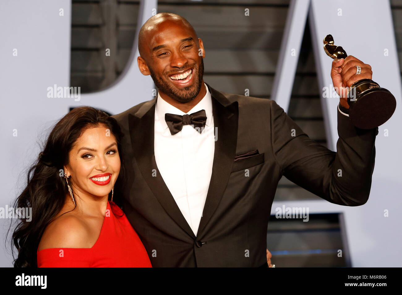 Kobe Bryant And Vanessa Laine Bryant Attending The 2018 Vanity Fair Stock  Photo: 176305142   Alamy