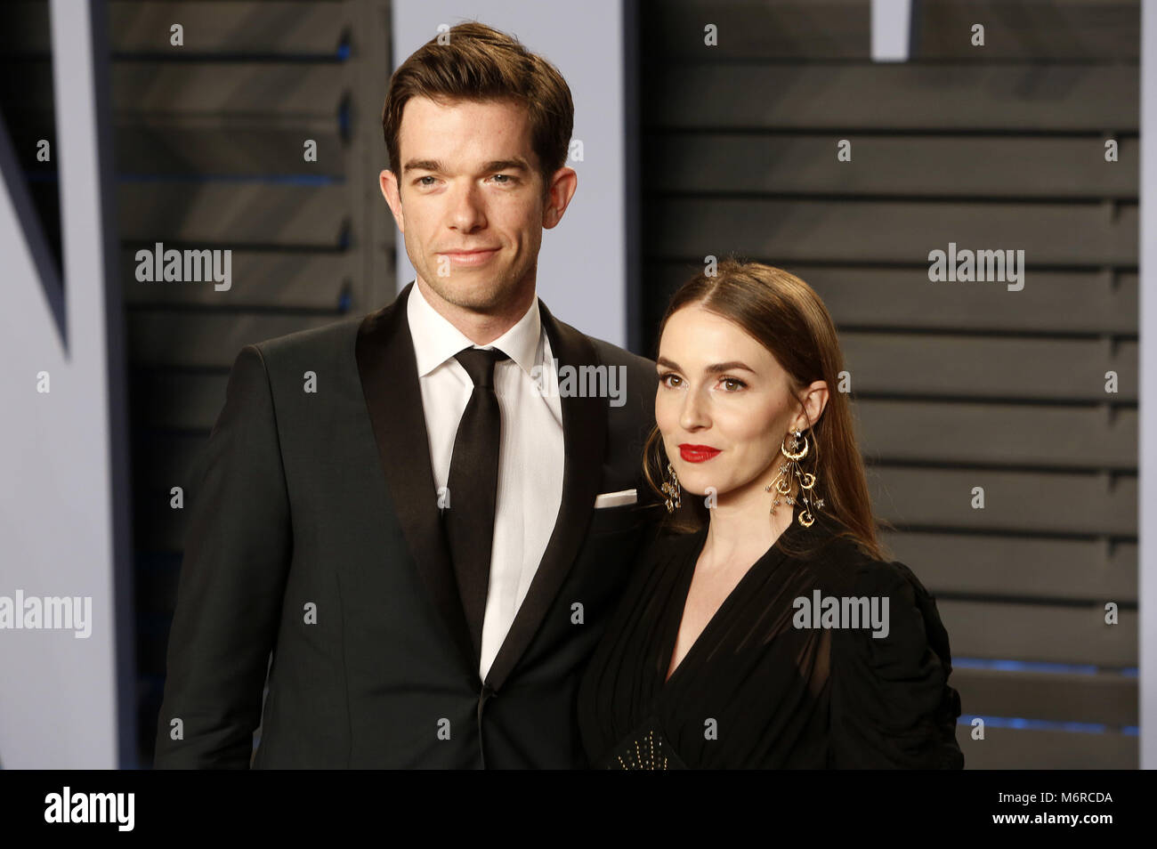Elegant John Mulaney And Annamarie Tendler Attending The 2018 Vanity Fair Stock  Photo: 176306294   Alamy