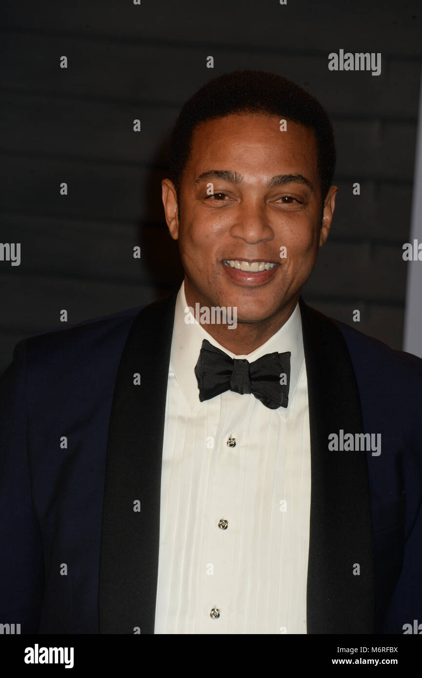 BEVERLY HILLS, CA   MARCH 04: Don Lemon Attends The 2018 Vanity Fair Oscar  Party Hosted By Radhika Jones At Wallis Annenberg Center For The Performing  Arts ...