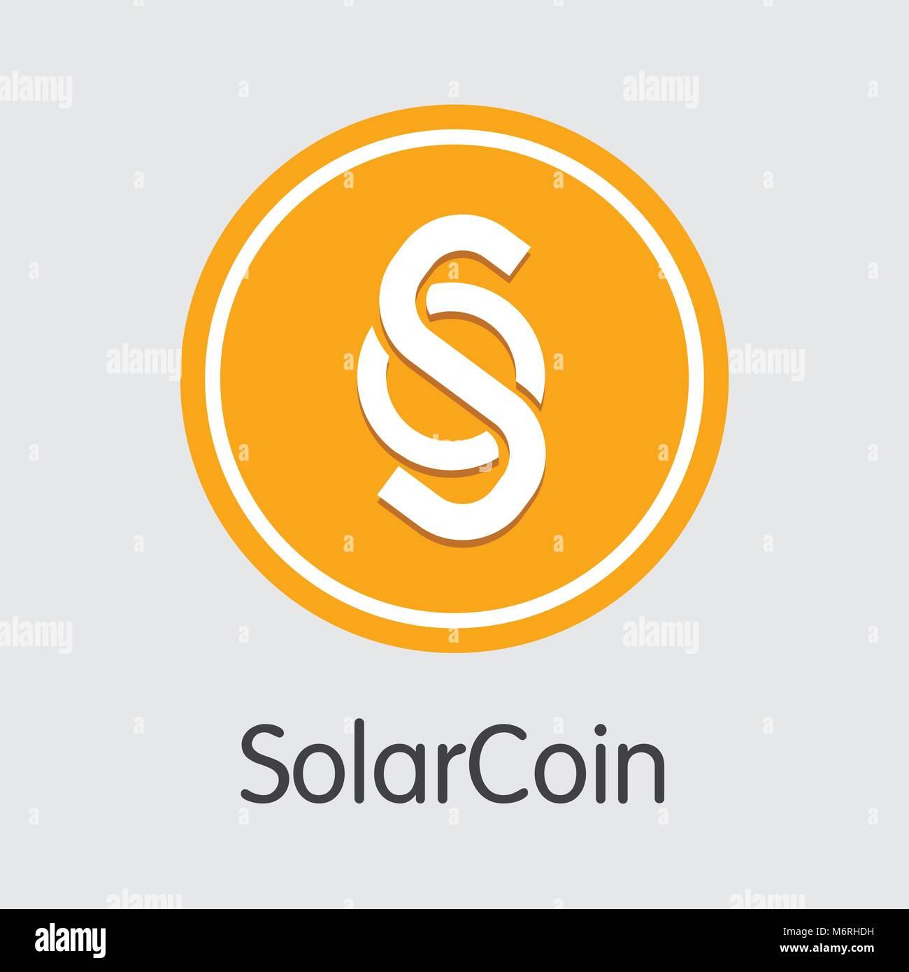 Solarcoin Virtual Currency Coin. Vector Icon of SLR. - Stock Vector