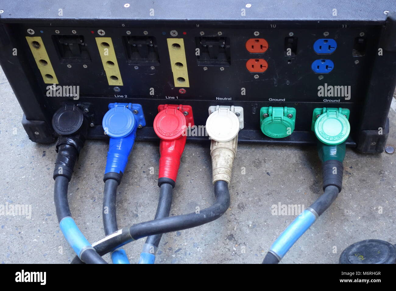 Electrical Box Stock Photos Images Alamy House Wiring Junction Portable With Outlets And Wires Image