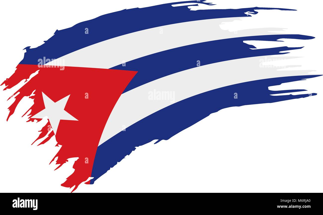 Superior Cuba Flag, Vector Illustration