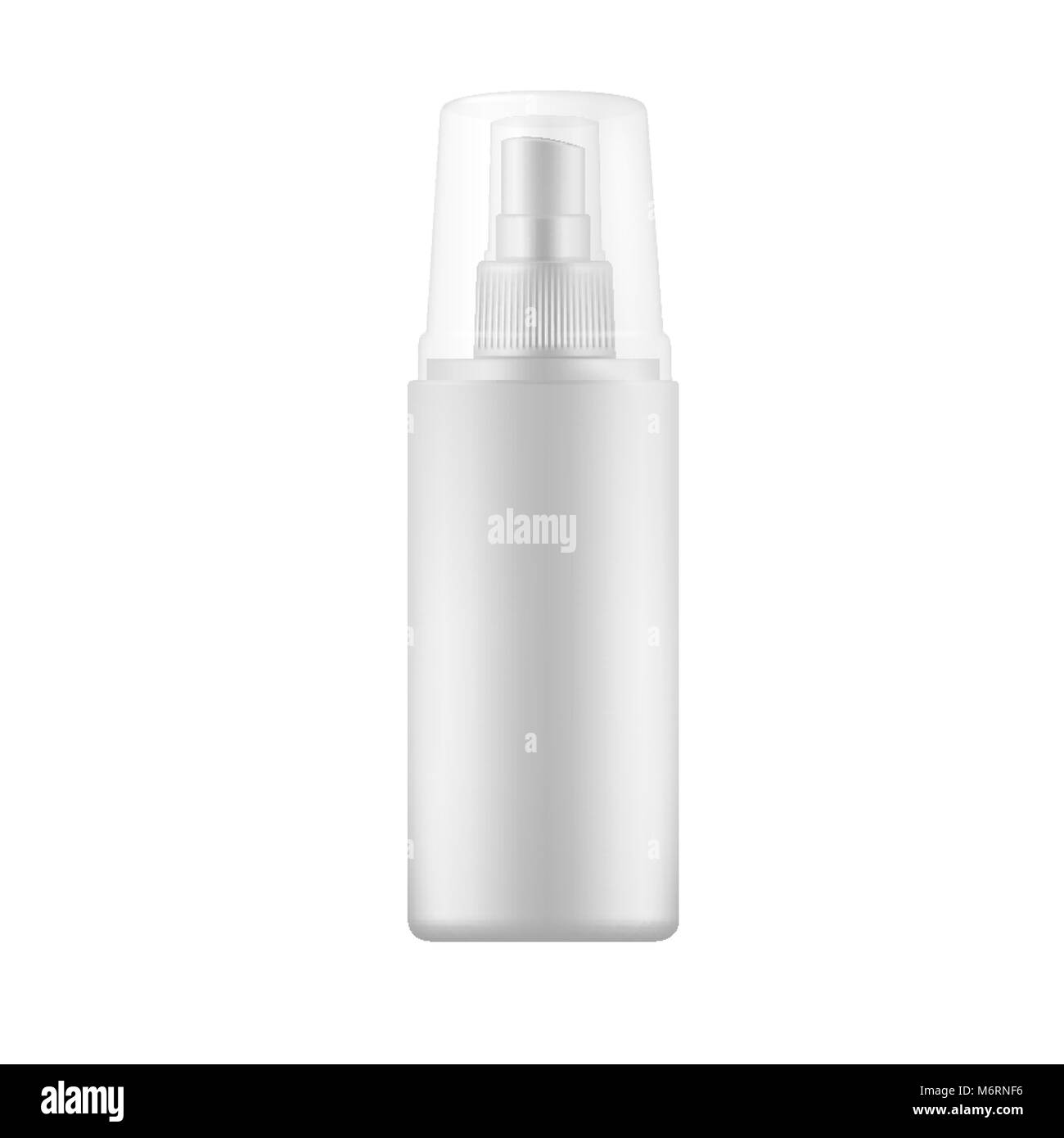 White Spray Bottle with transparent cap.  - Stock Image