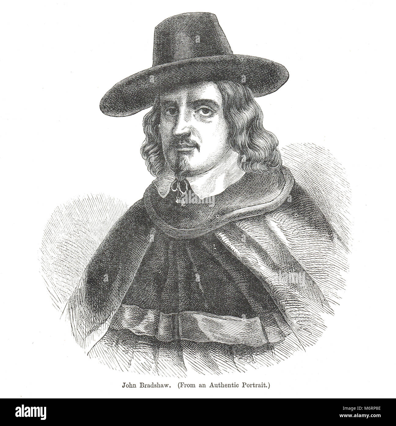 John Bradshaw, (1602–1659), English judge, notable for his role as President of the High Court of Justice at the - Stock Image