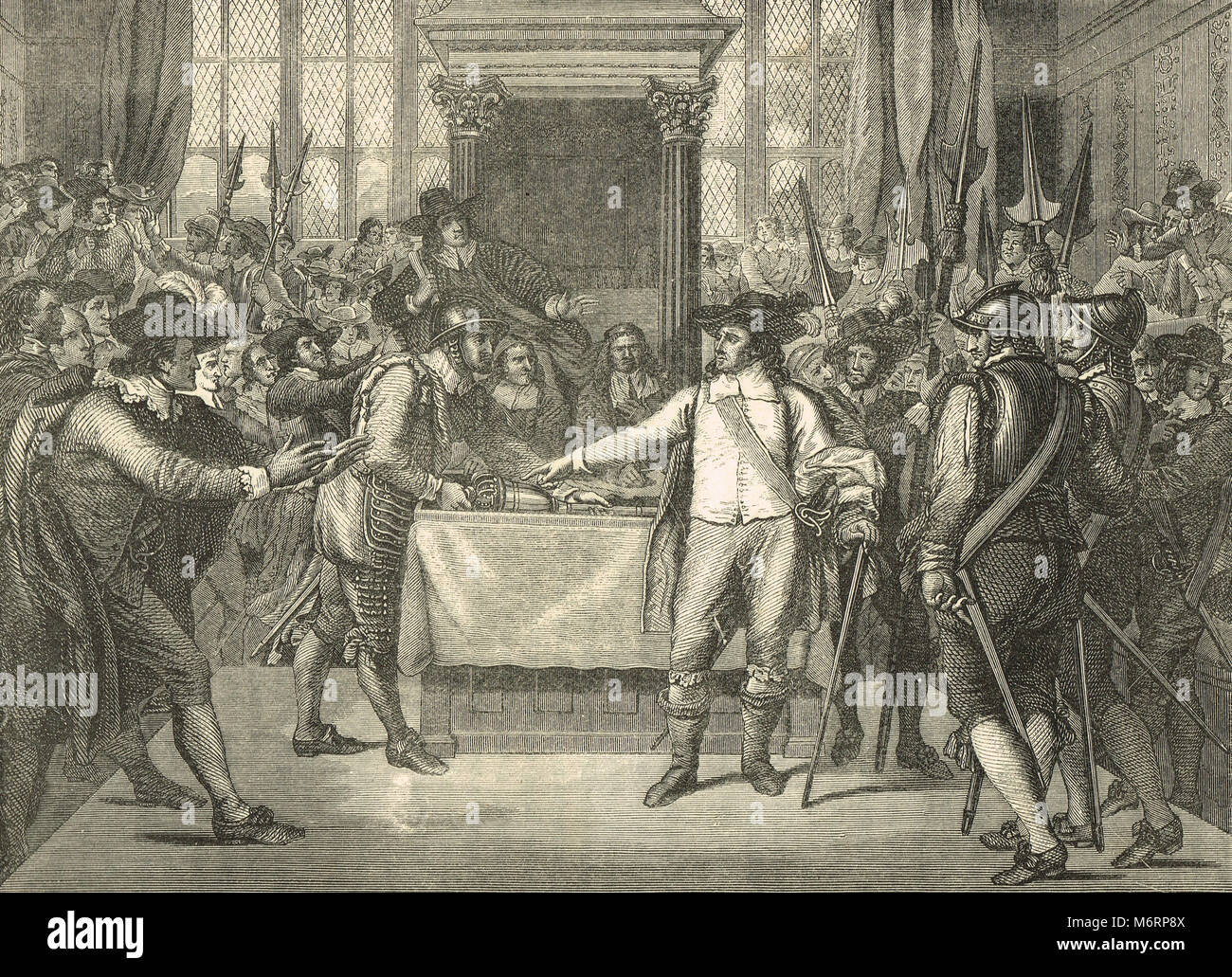 Oliver Cromwell dissolving the rump parliament, 20 April 1653