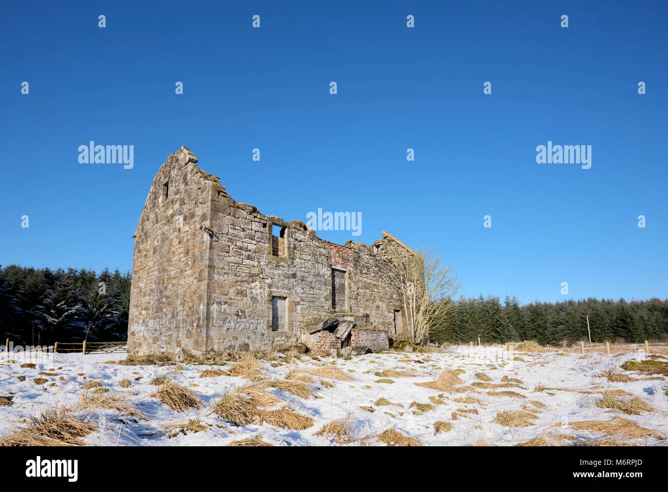 Derelict House near the village of Forth, Lanarkshire, Scotland - Stock Image