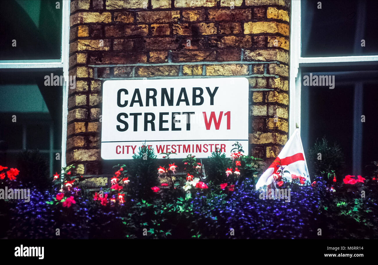 Carnaby Street sign in central London - Stock Image
