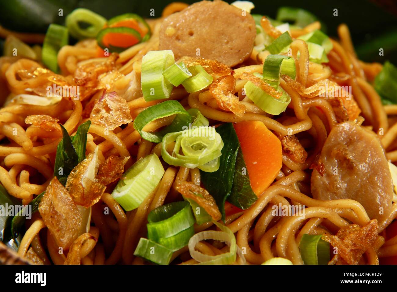 Mie Goreng Jawa Stir Fried Egg Noodles With White Cabbage Carrot Stock Photo Alamy