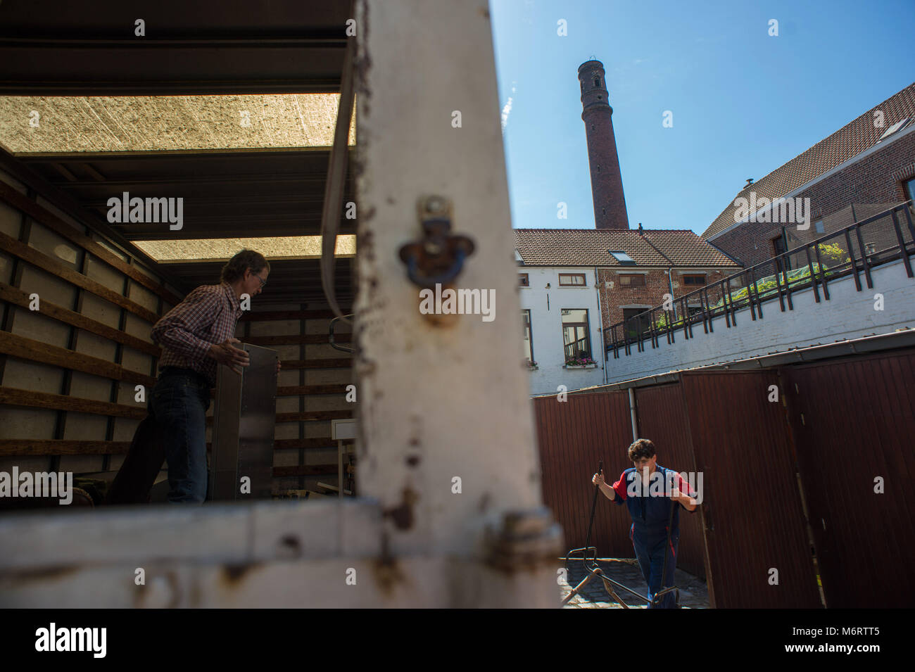 Bruxelles, Community of Poudriere abolishes private property and individualism. Belgium. - Stock Image