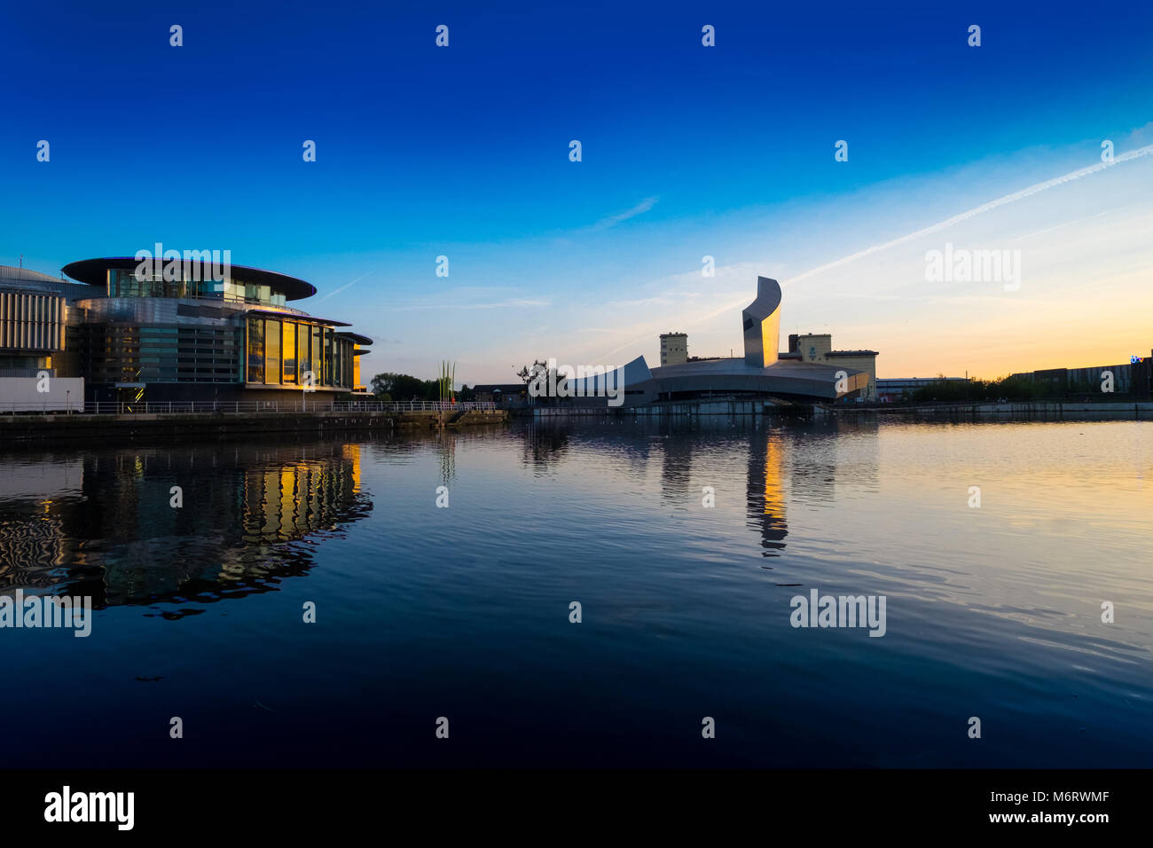Lowry Arts Centre and IWM North, Salford, Manchester - Stock Image