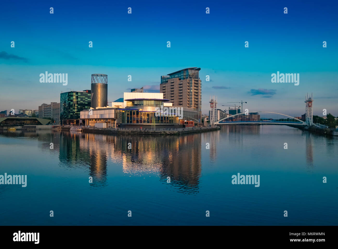 Lowry Theatre and Gallery at Salford Quays - Stock Image