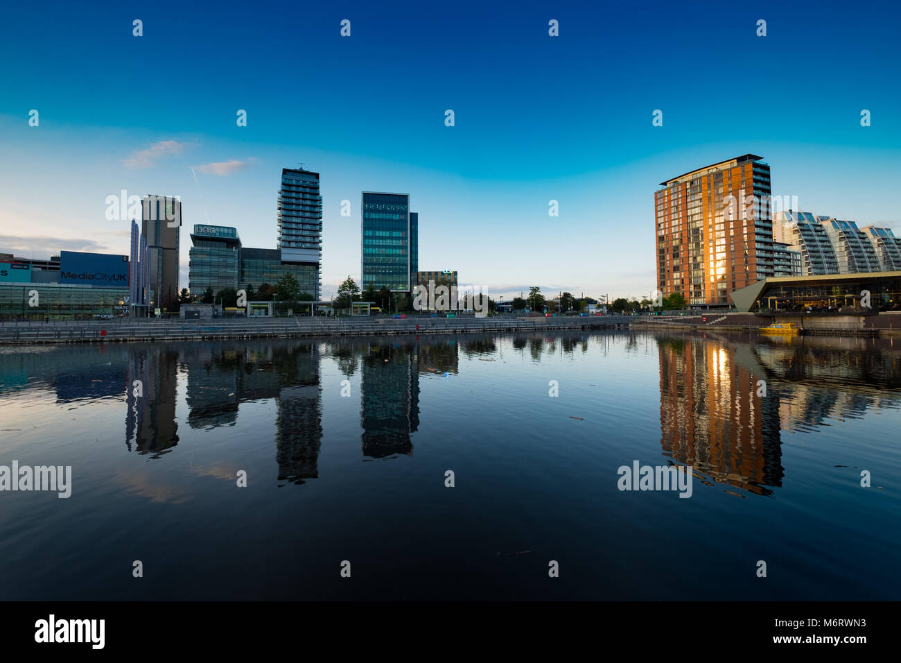 Salford Quays Media City, Manchester - Stock Image