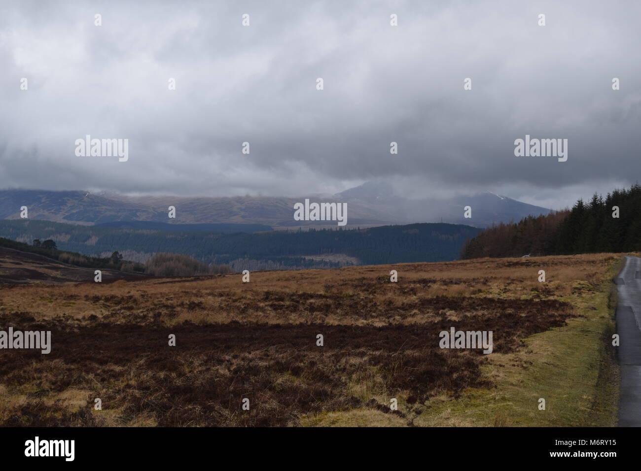 'lochs' 'loch long' 'Scotland' - Stock Image