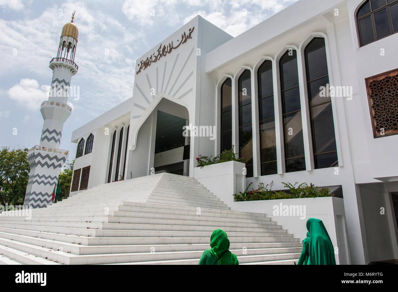 Die große Freitagsmoschee in Malé, Hauptstadt der Malediven - Stock Image