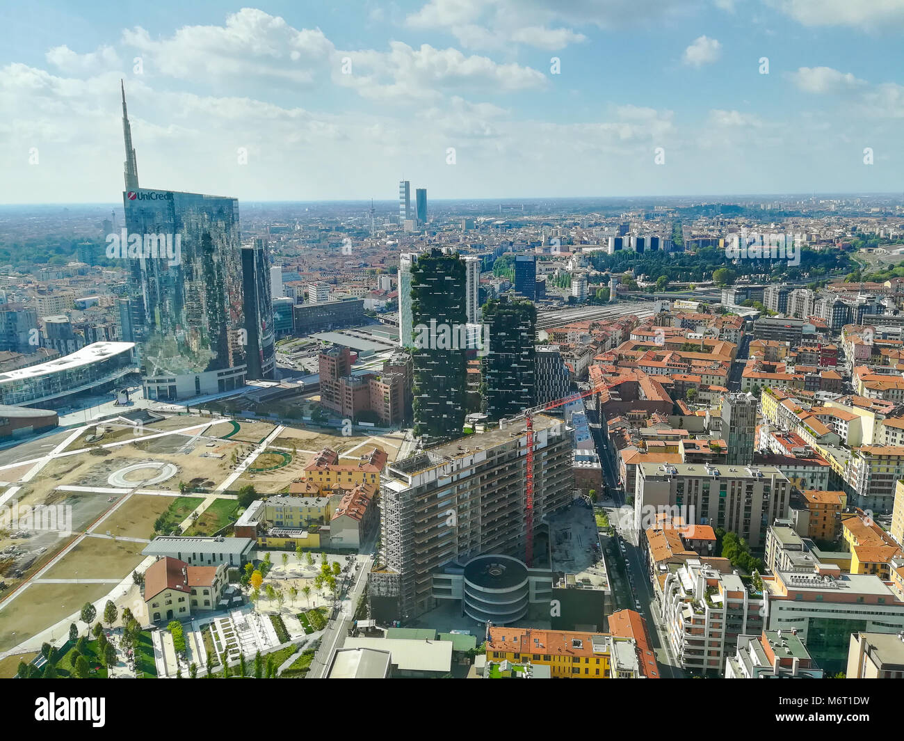 Milan Aerial View Milano City Italy Modern Buildings View Stock Photo Alamy