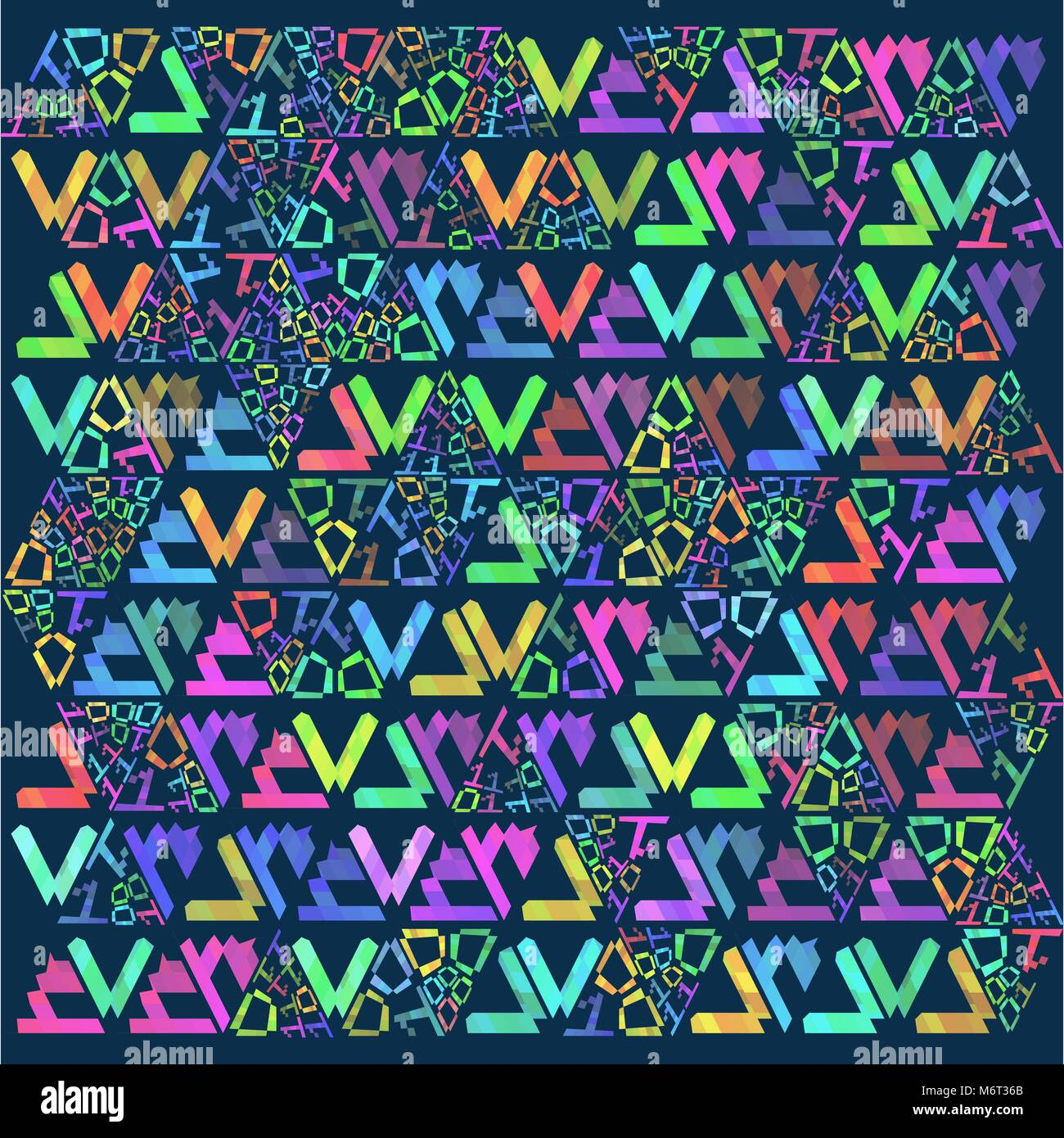 Vector Retro pattern of geometric shapes. Colorful-mosaic-banner. Geometric hipster retro background with place - Stock Vector