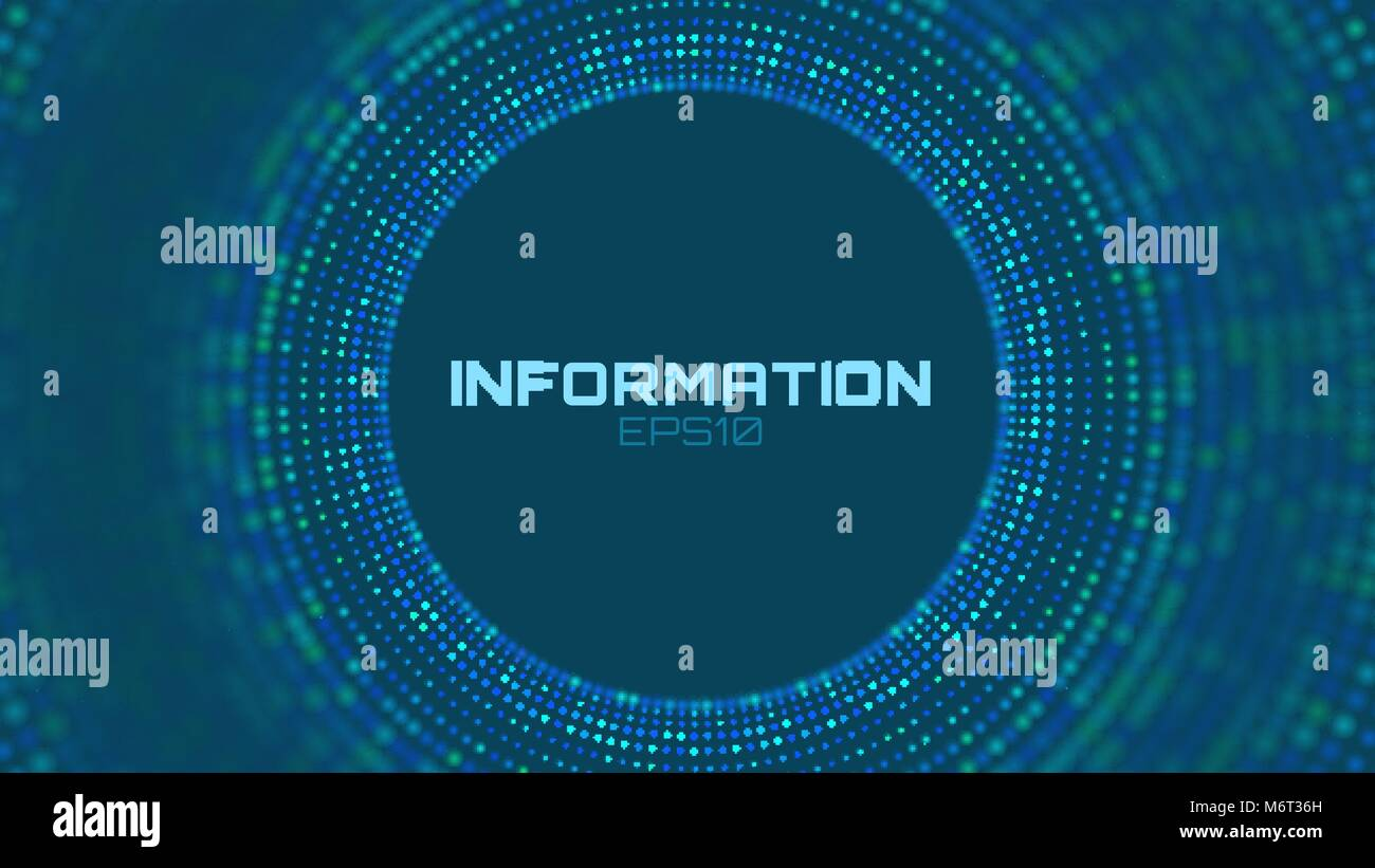 Vector abstract colorful big data information sorting visualization. Social network, financial analysis of complex - Stock Image