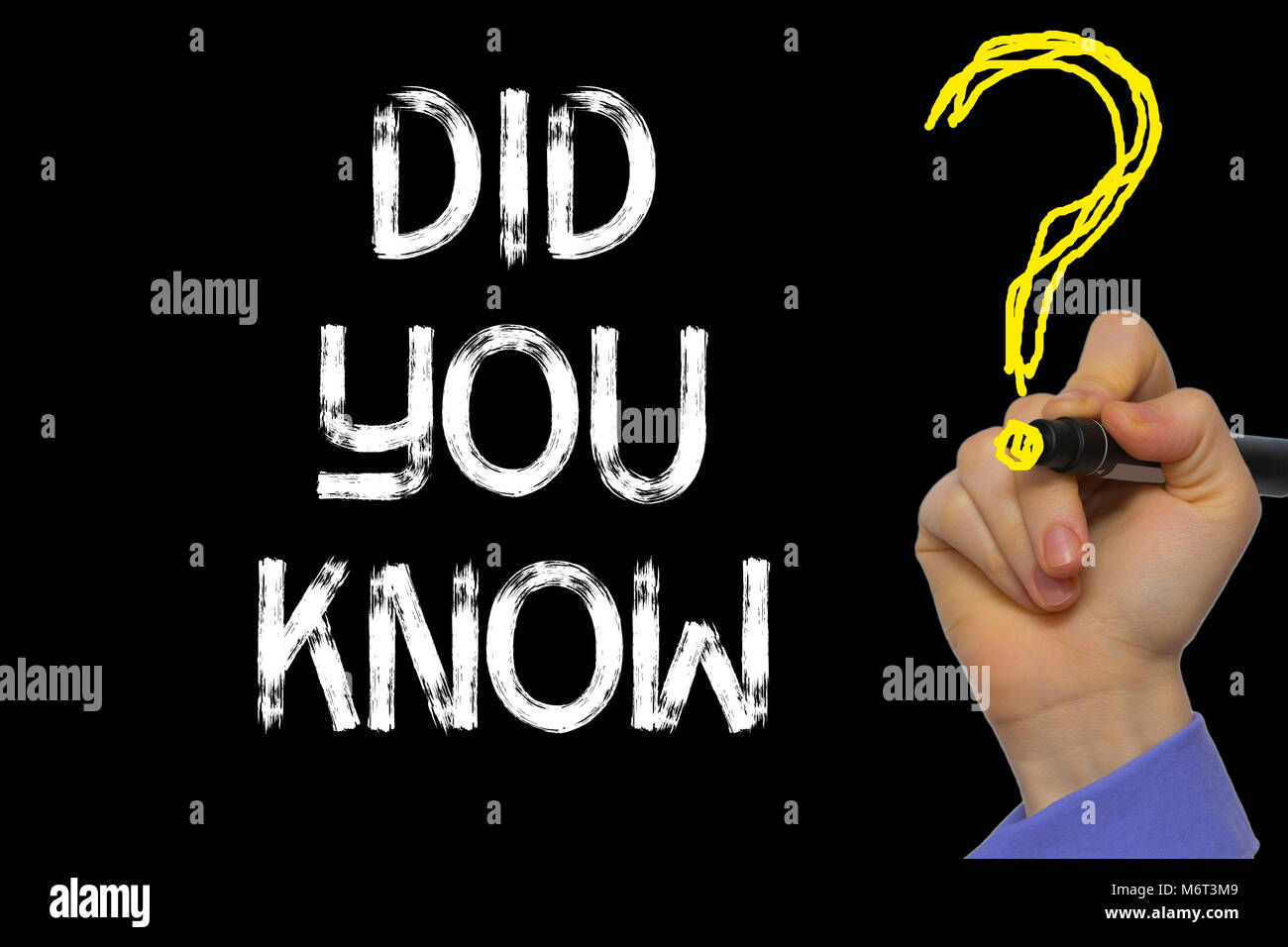 Hand writing the text: Did You Know? Stock Photo