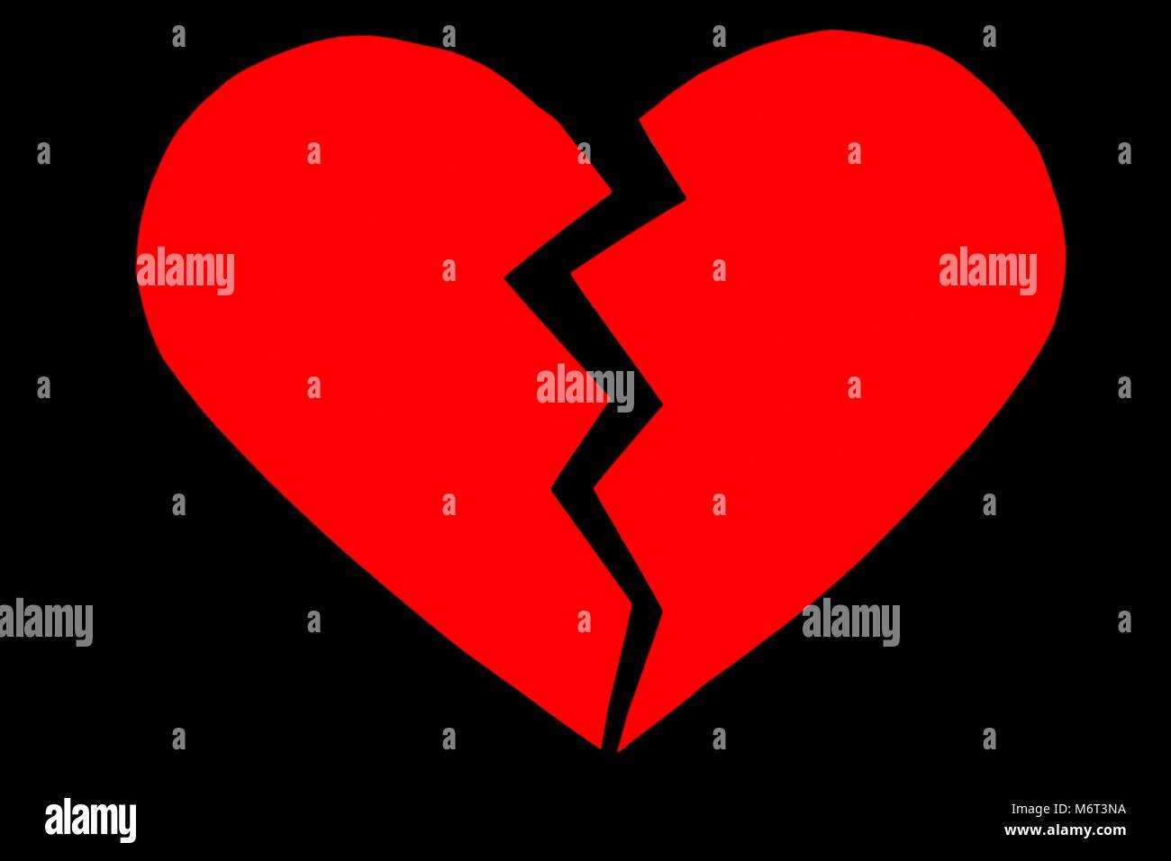 Get Broken Heart Background Black Wallpapers