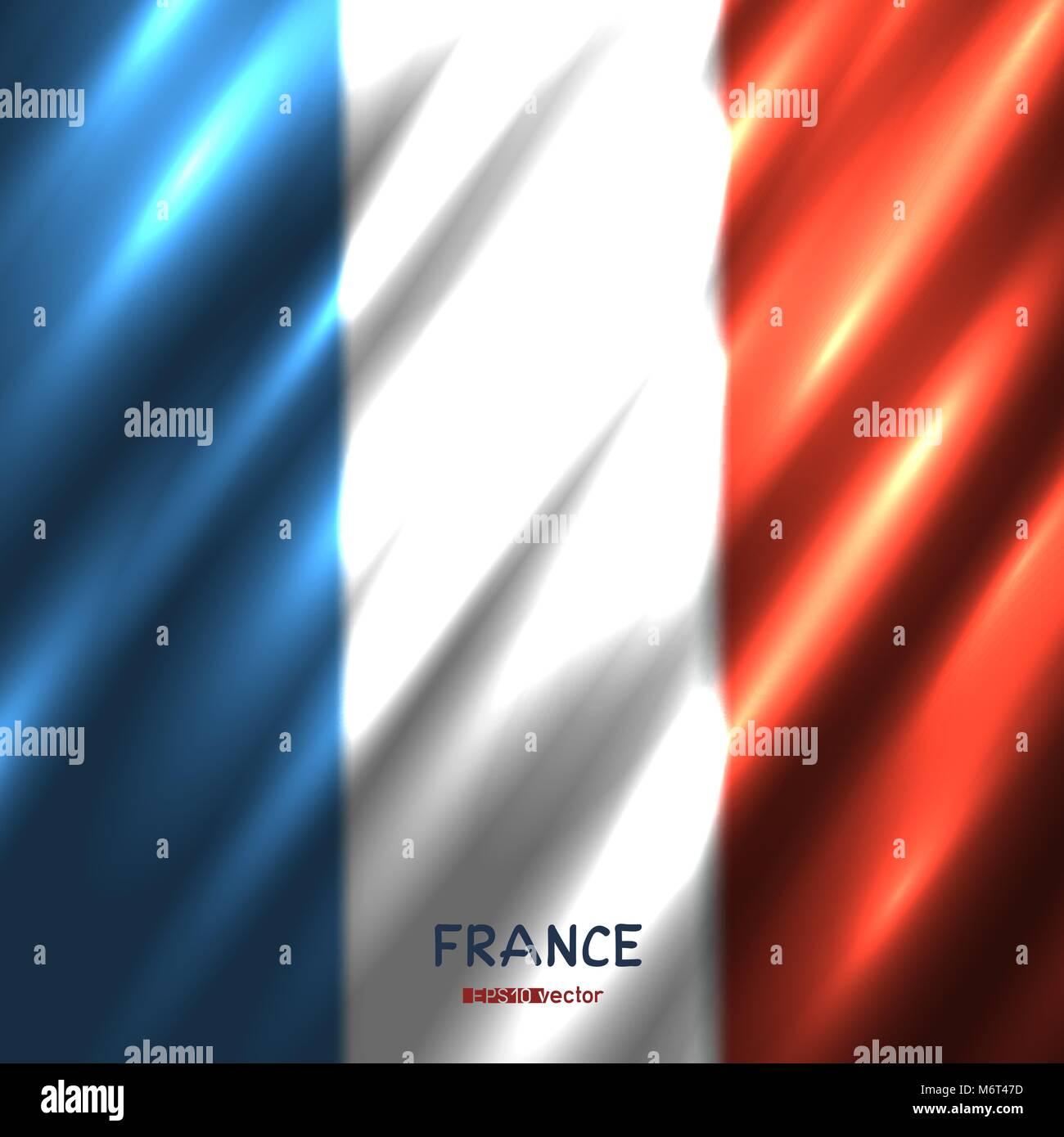 National France flag background - Stock Image