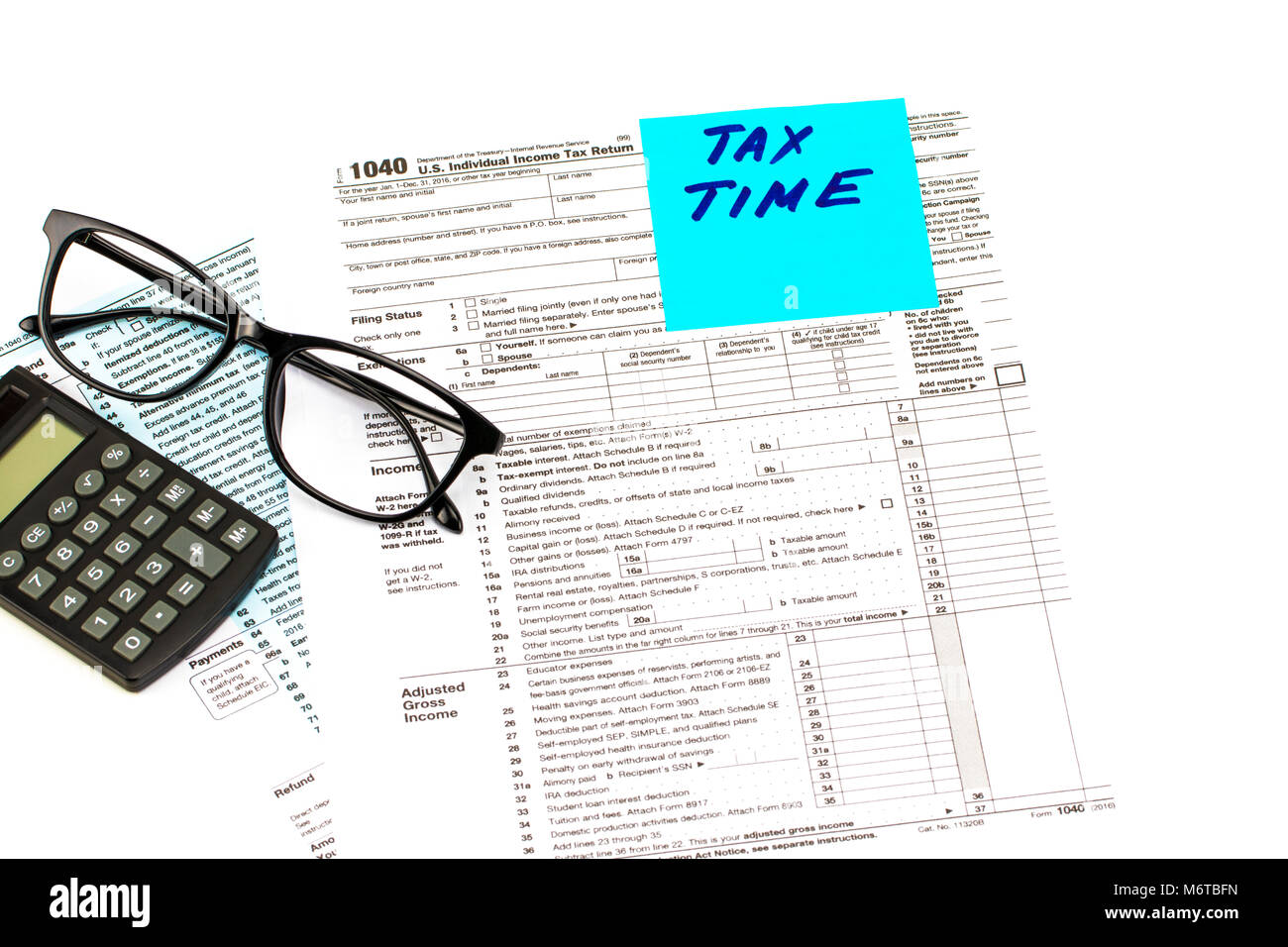 Tax Form And Calculator Stock Photos & Tax Form And