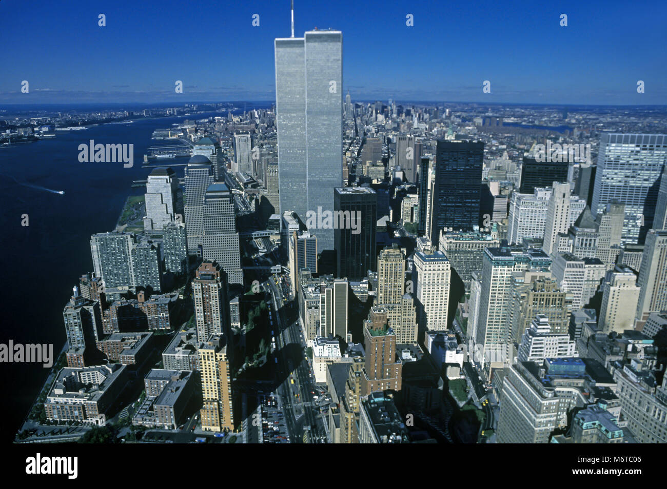 Wtc Twin Towers Manhattan Stock Photos & Wtc Twin Towers