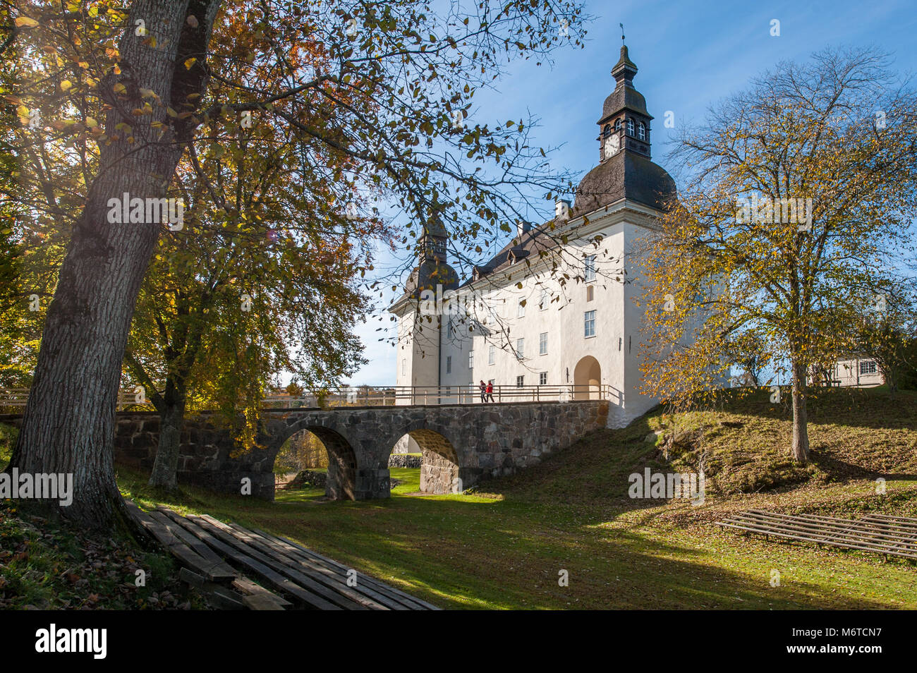 Ekenäs castle during fall in the countryside of Östergötland outside Linköping, Sweden. - Stock Image