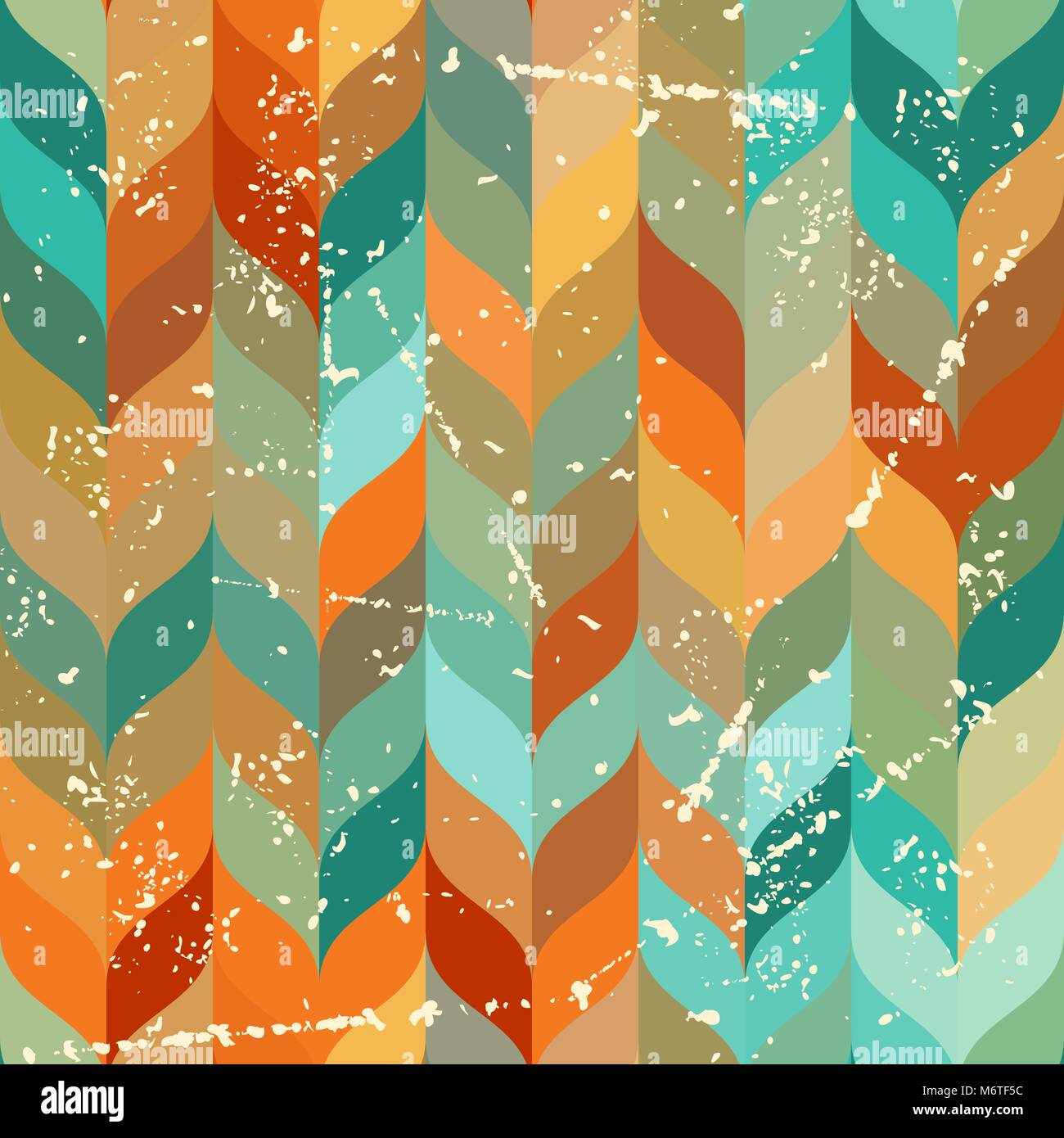 Seamless grunge pattern in retro style - Stock Vector