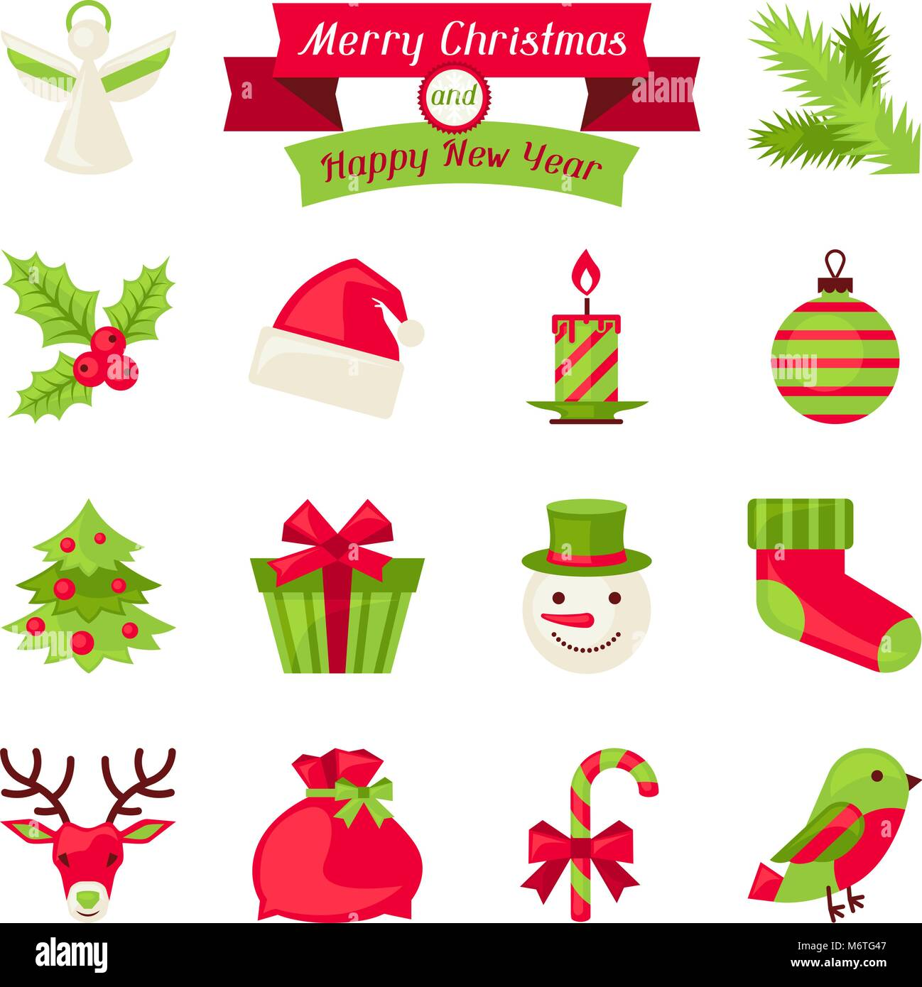 new year icons high resolution stock photography and images alamy https www alamy com stock photo merry christmas and happy new year icons 176331127 html