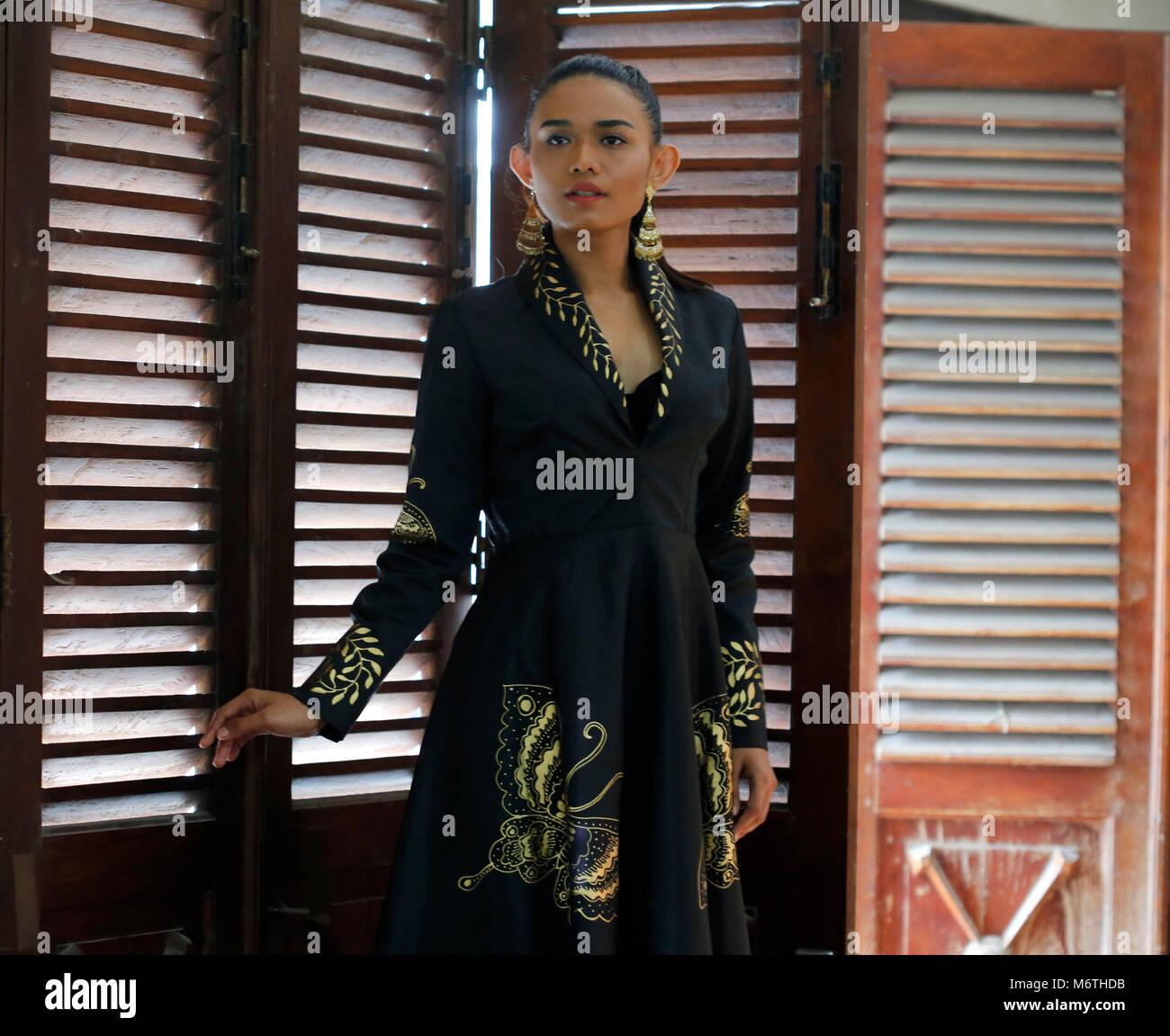 Yogyakarta Indonesia 05th Mar 2018 A Model Amel Wearing New