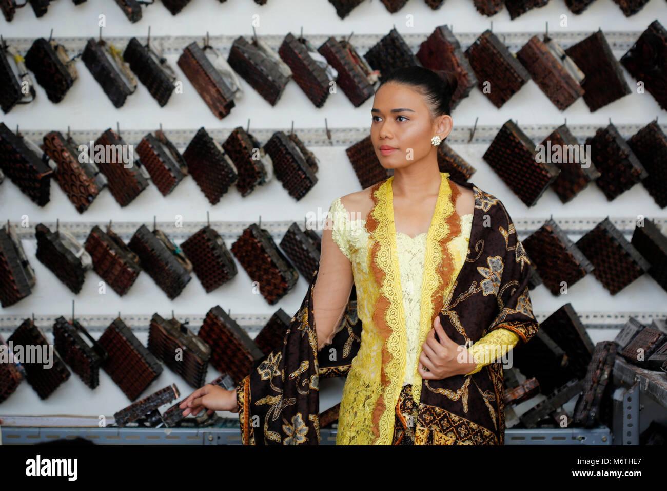 Yogyakarta Indonesia 05th Mar 2018 A Model Amel Wearing Kebaya