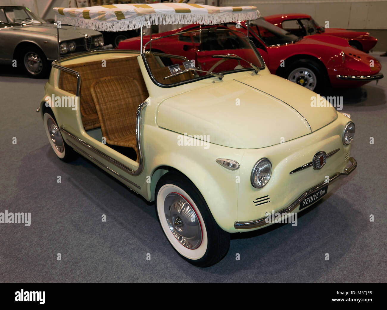 A 1958 Fiat Jolly, on display at the 2018 London Classic Car Showl - Stock Image
