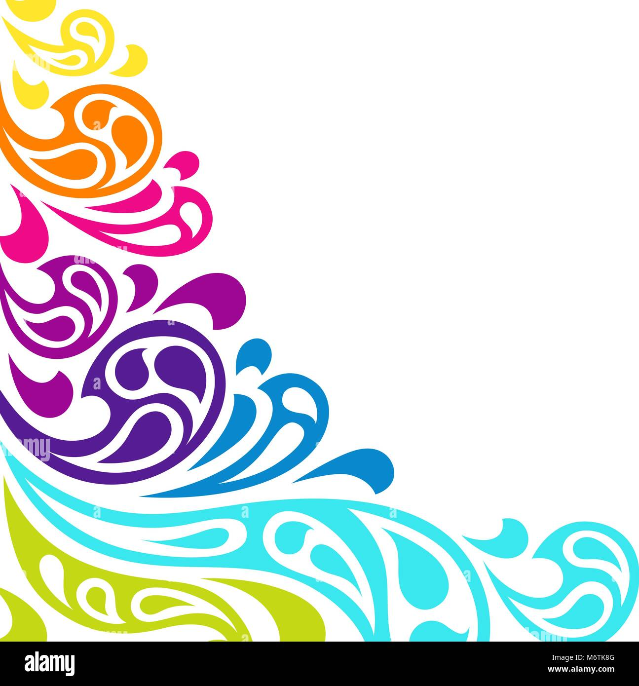 Color splash waves abstract background - Stock Image
