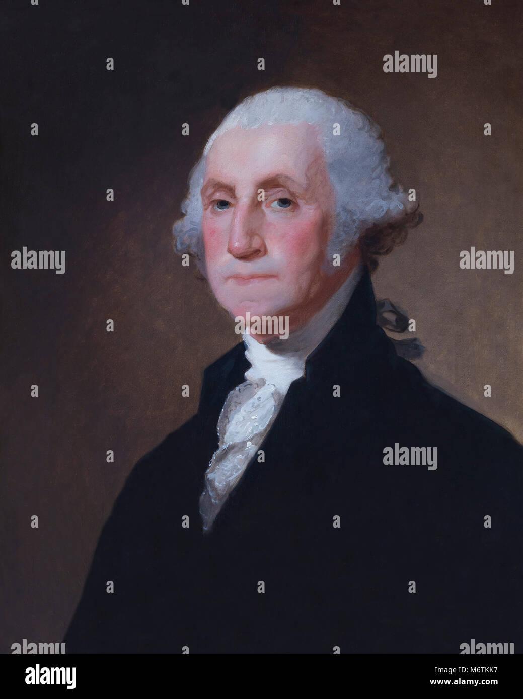 George Washington, Gilbert Stuart, circa 1821, National Gallery of Art, Washington DC, USA, North America Stock Photo