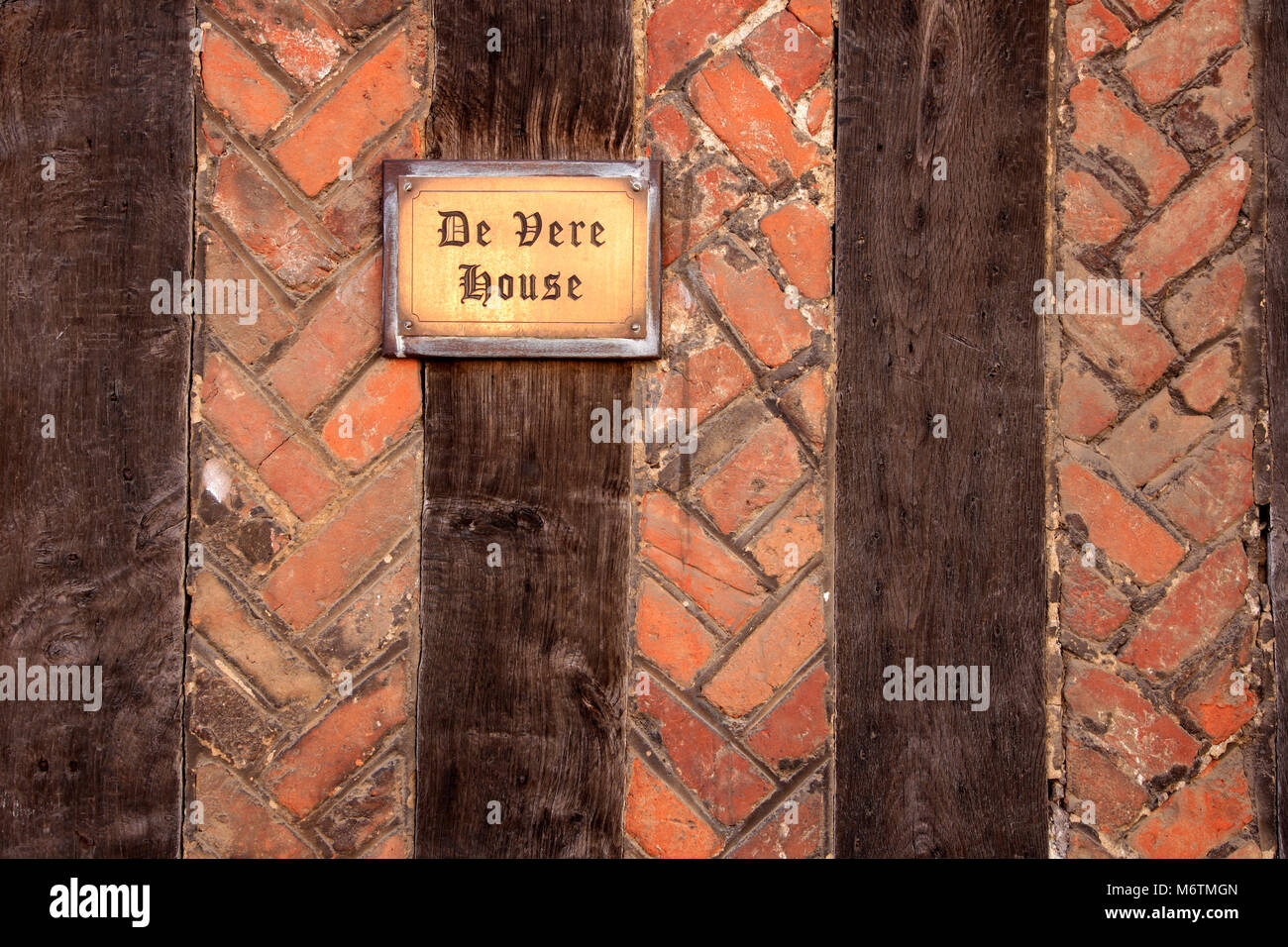 Tourist Information Sign, Lavenham village, Suffolk County, England, UK - Stock Image