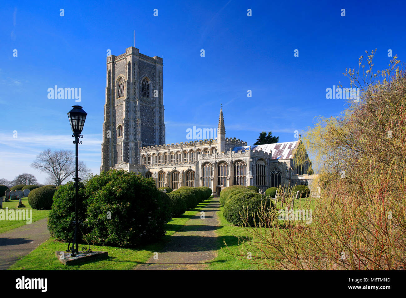 The parish church of St Peter and St Paul, Lavenham village, Suffolk County, England, UK Stock Photo