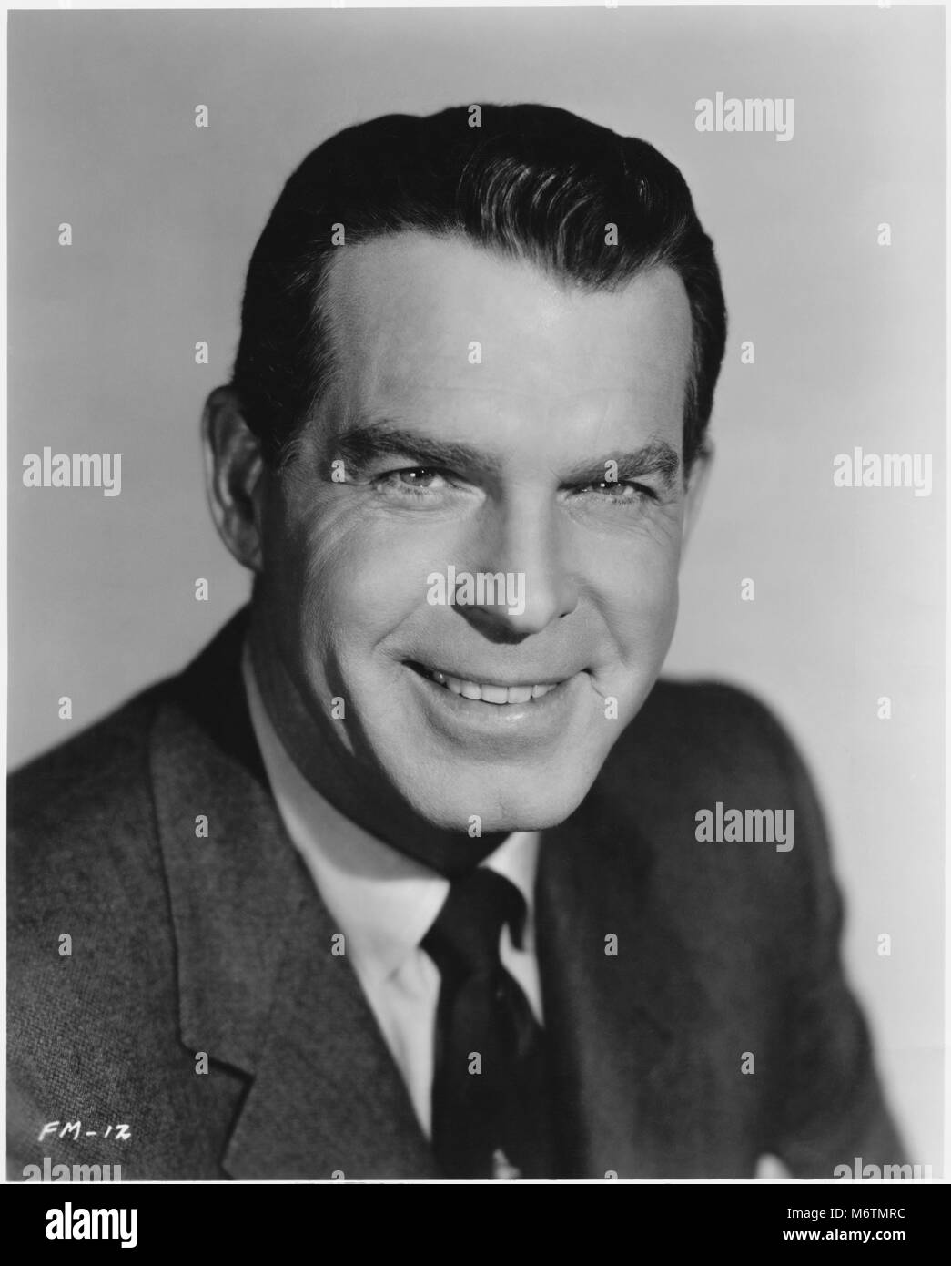 Actor Fred MacMurray, Publicity Portrait, late 1950's - Stock Image