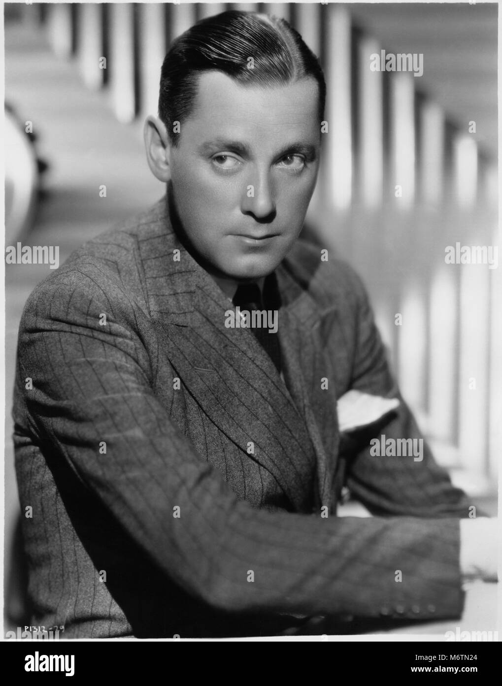 "Herbert Marshall, Publicity Portrait for the Film, ""Trouble in Paradise"", Paramount Pictures, 1932 Stock Photo"