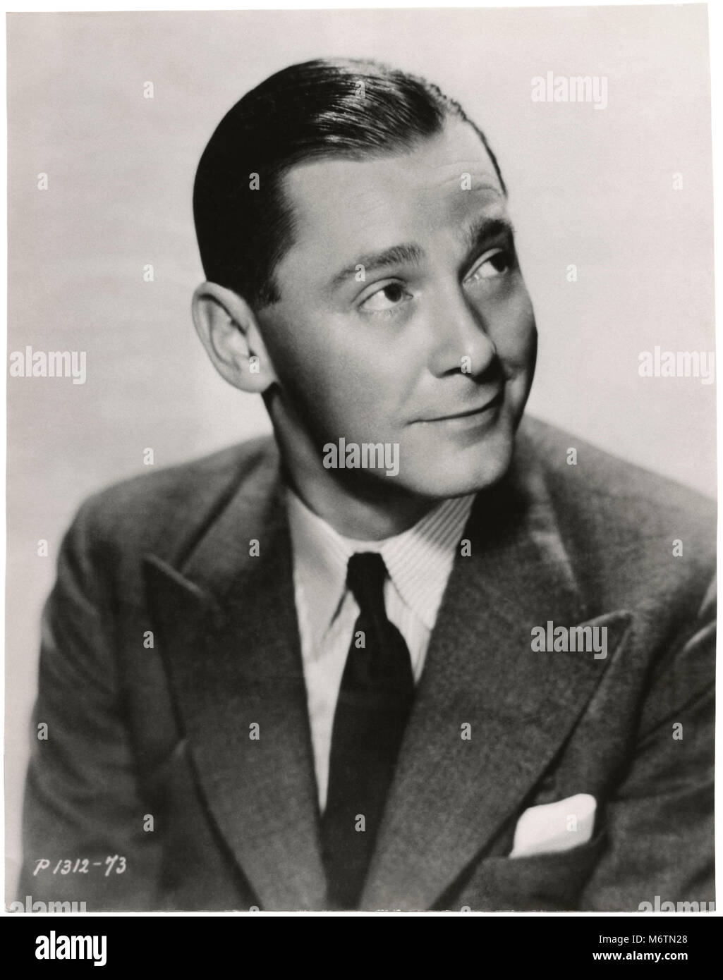 Herbert Marshall, Publicity Portrait for the Film, 'Trouble in Paradise', Paramount Pictures, 1932 - Stock Image