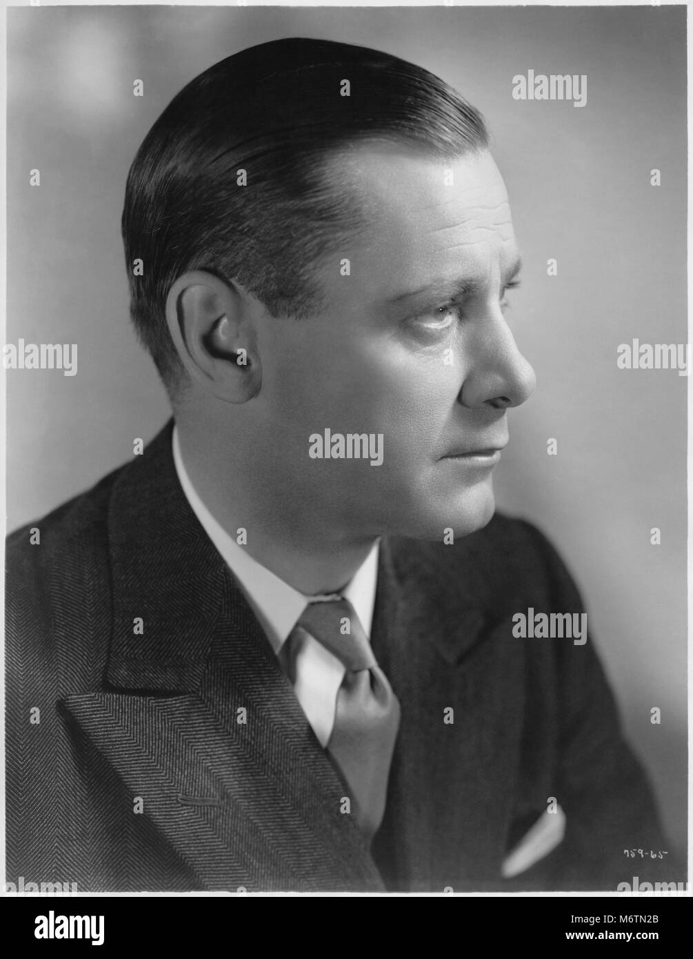 "Herbert Marshall, Publicity Portrait for the Film, ""Outcast Lady"", MGM, 1934 Stock Photo"