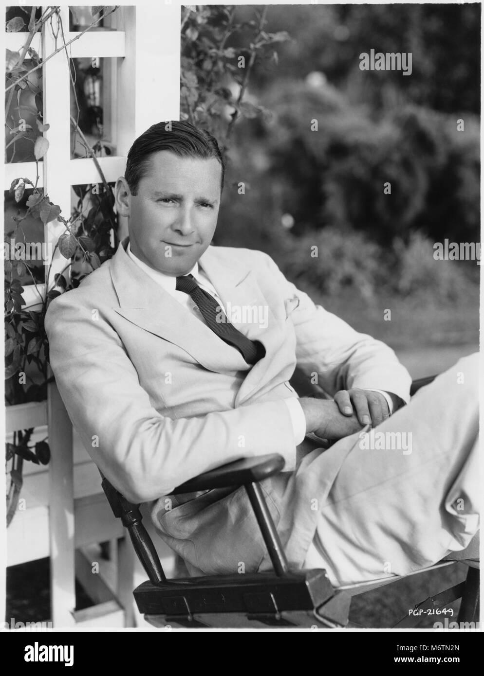 Herbert Marshall, Seated Publicity Portrait, 1934 Stock Photo