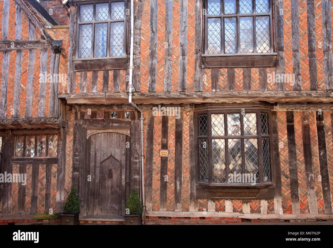 The De Vere House, Lavenham village, Suffolk County, England, UK - Stock Image