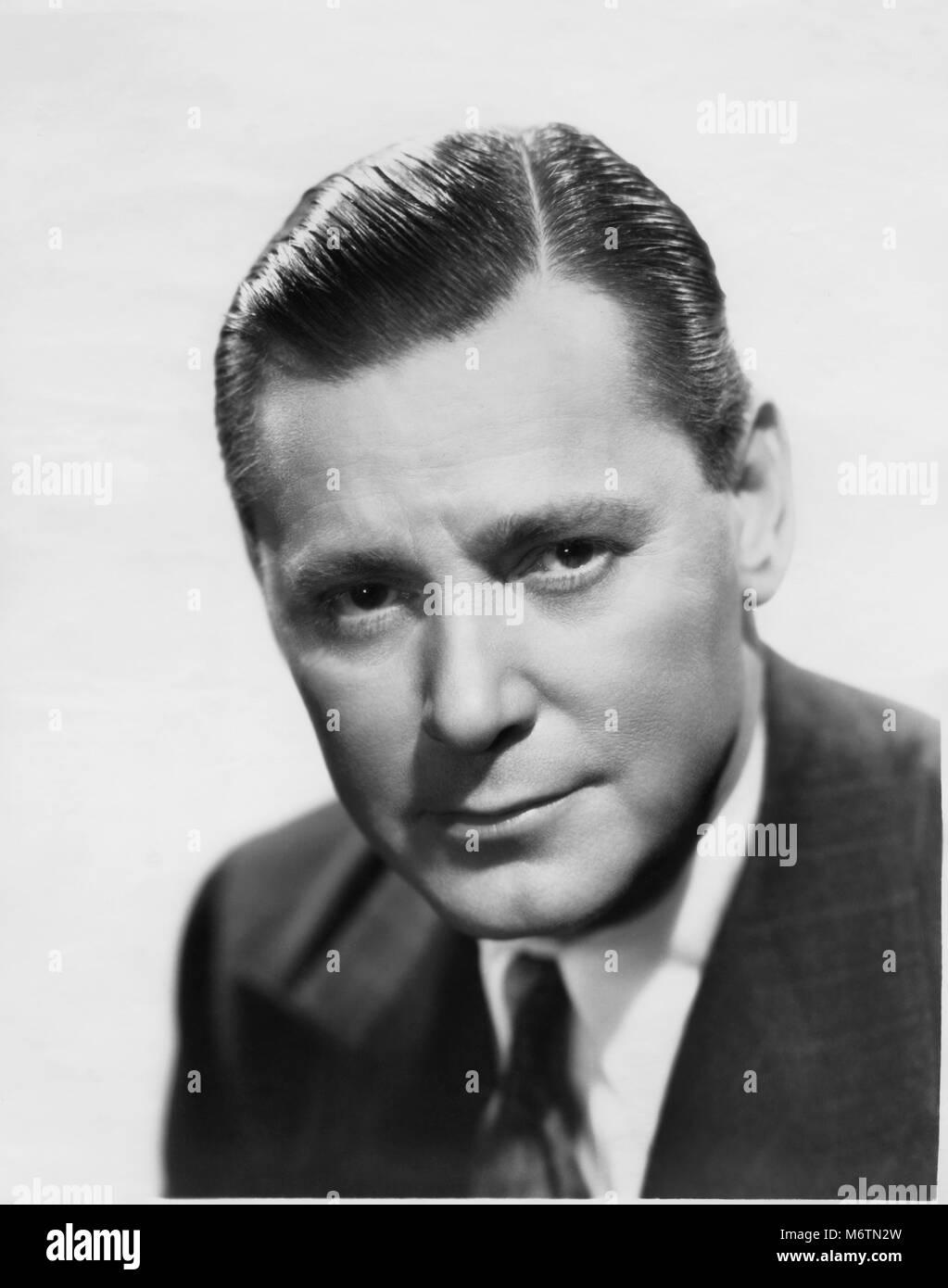 Herbert Marshall, Publicity Portrait for the Film, 'Always Goodbye', 20th Century Fox, 1938 - Stock Image