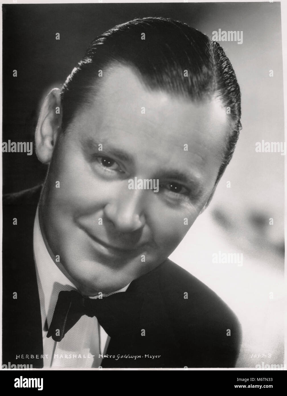 Herbert Marshall, Publicity Portrait for the Film, 'Woman against Woman', MGM, 1938 - Stock Image