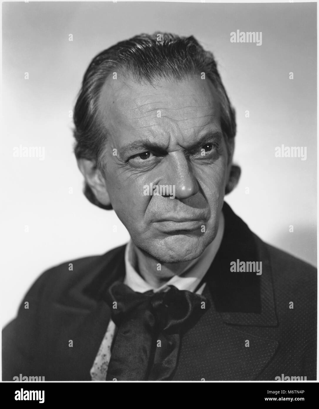 Raymond Massey, Publicity Portrait for the Film, 'Prince of Players', 20th Century Fox, 1955 - Stock Image