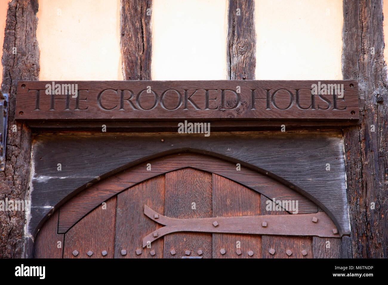 The Crooked House, Lavenham village, Suffolk County, England, UK - Stock Image