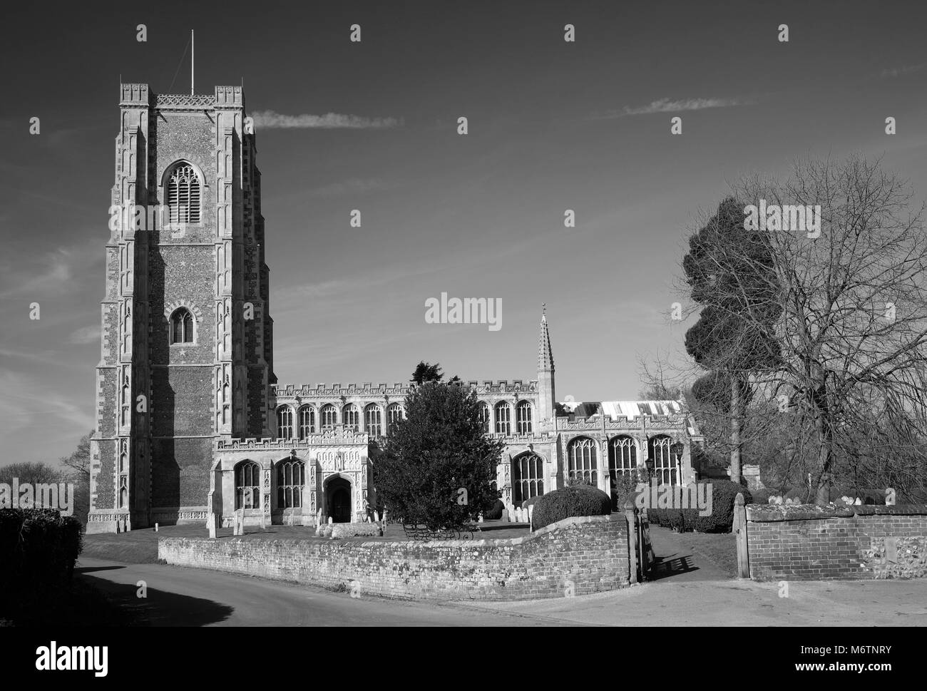 The parish church of St Peter and St Paul, Lavenham village, Suffolk County, England, UK - Stock Image