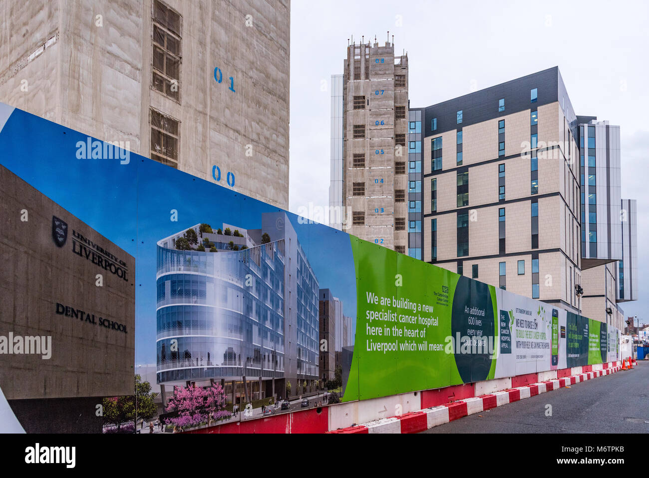 The half completed new Royal Liverpool Hospital. Formerly under construction by defunct Carillion. - Stock Image